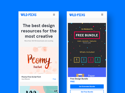 Wildpicks.design Mobile View mockup free freebie freeby business card mockup busuniss car template