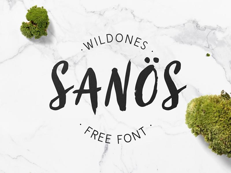 Sanös - Free Font wildones wildpicks sanos paint type typeface handwritten brush free font freebie