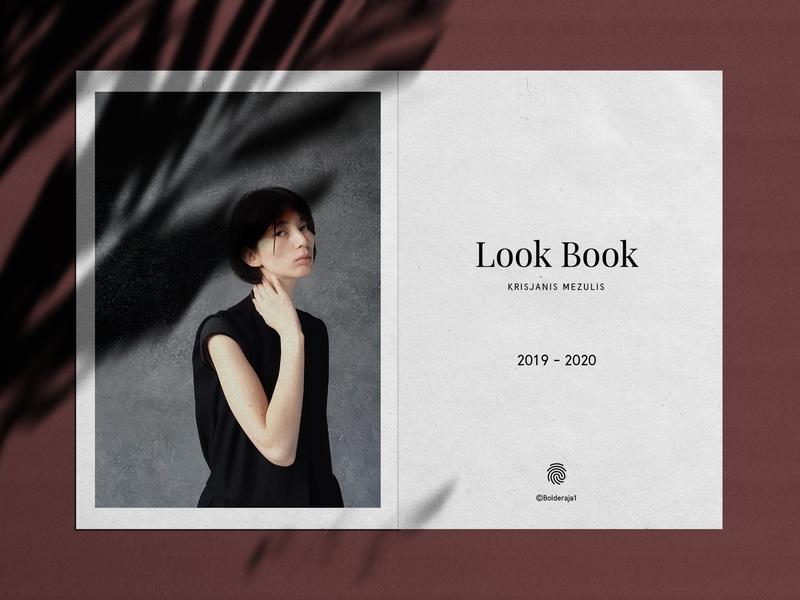 Lookbook Template .ai print classic contemporary design minimalism minimal book look fashion template lookbook