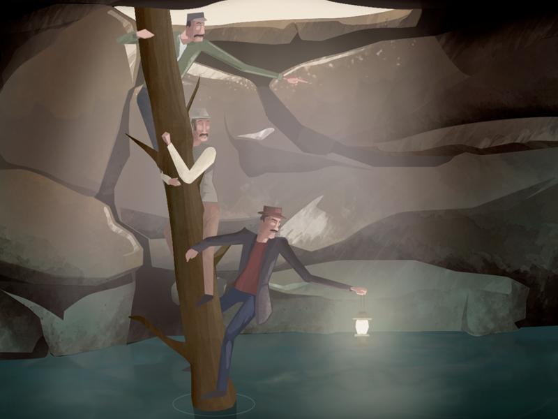 Parks Canada Cave and Basin illustration design motion design parks canada