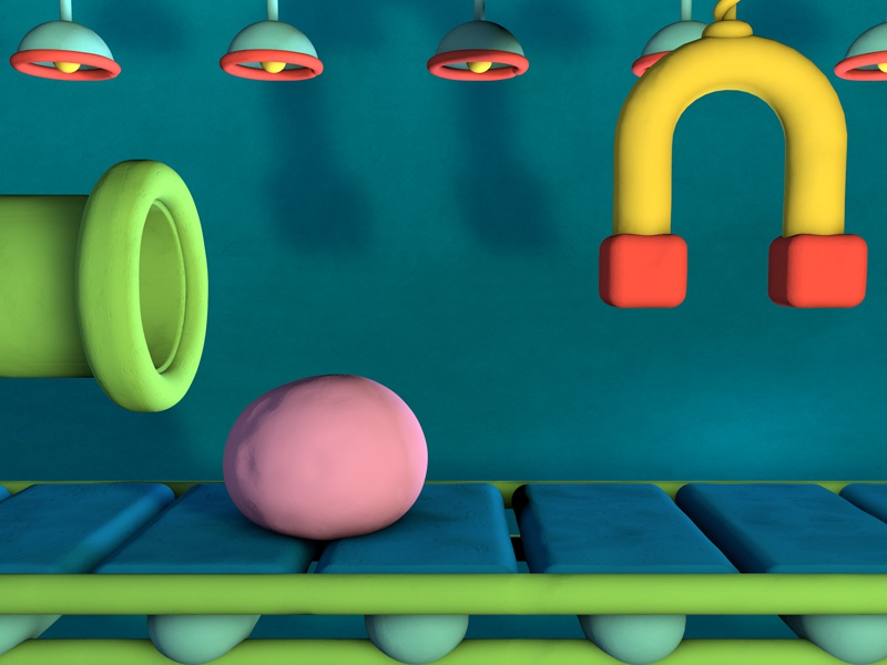 Claymation Factory Render clay 3d motion render pause