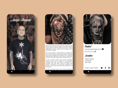 Tattoo Artist Discovery Concept App