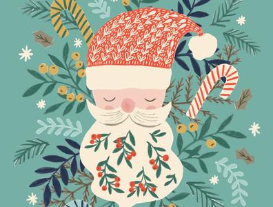illustration santa santa claus santa illustration christmas party christmas illustration winter holiday art santa