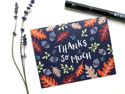 Fall Foliage Thank You Card
