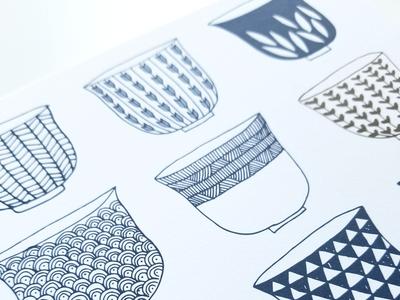 Art Print - Tea Cups