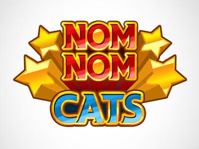 Nom Nom Cats Logo logo design graphic game