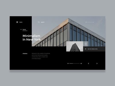 Architecture in NY -  Website concept