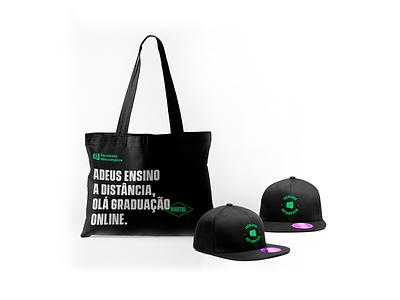 Merchandise — Faculdade Descomplica typography logo branding