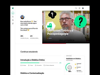 LMS Faculdade Descomplica — Dashboard ui  ux ui design interface ux ui design