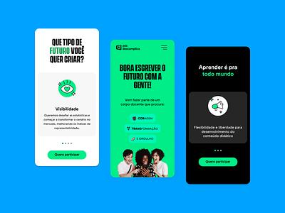 Pós Descomplica — Mobile mobile ui  ux ui design interface ux ui design