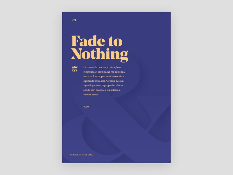 Fade to Nothing