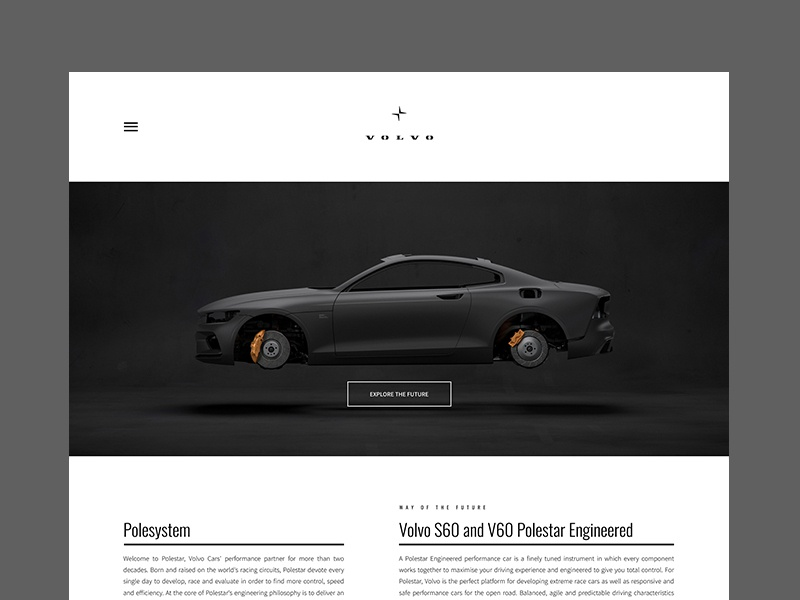 Volvo Polestar ui  ux ui design website interface design ux ui