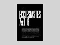 Holy Swiss - Ecclesiastes