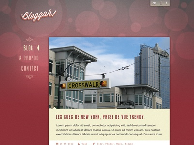 Bloggah! Spip Theme - Blog page webdesign