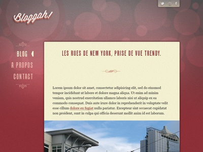 Bloggah! Spip Theme - Article page webdesign