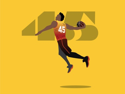Donovan Mitchell utah jazz basketball nba illustration illustrator vector illustration vector art vector