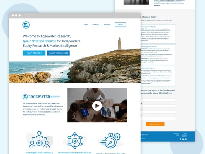 Website Design Edgewater Research lighthouse water graphic design graphic simple whitespace white minimal web design ux ui branding