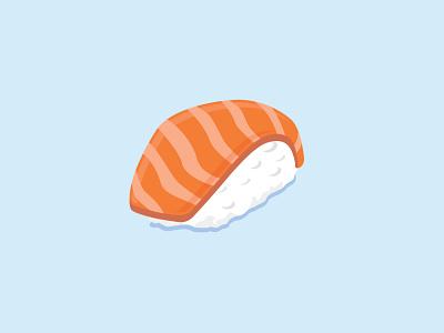 Sushi sushi roll flatdesign vector art lunch food japanese food japanese art japanese japan rice salmon sushi branding vector illustration design