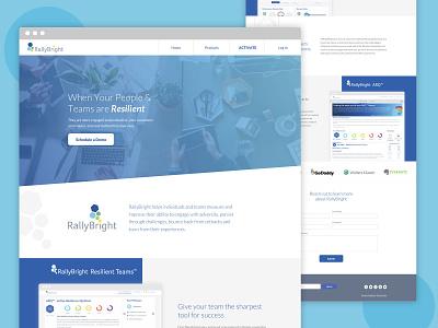 RallyBright website design app web ux ui web design branding design