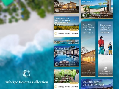 Auberge HTML Banner Ads html5 graphic design design resorts travel banner ads html marketing advertising branding