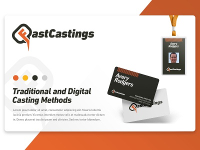 FastCastings Branding Project graphic design logo branding