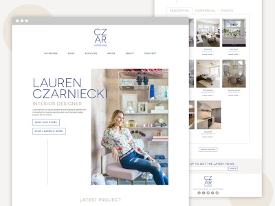 Czar Interiors Web Design website web design ux ui branding design