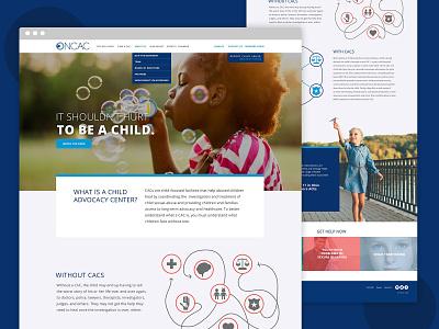 ONCAC Website Design web design ux ui design