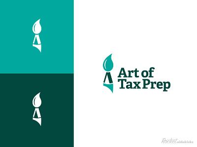 Art of Tax Prep Logo Design typography logo vector branding design