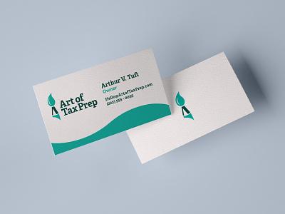 Art of Tax Prep Business Card Design business card typography logo branding design