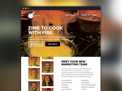 Simmer Group Web Design web ui ux fire orange red simmer social marketing web design one page