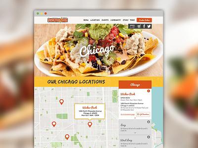 Native Foods Web Design web design ui ux food map