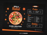Job - Menu de Natal Pizzaria