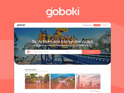 Goboki - Online booking design branding figma uiux ui design ui website traveling vietnam tours tourist travel app