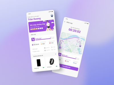 Health & Workout App #designchallenge health vietnam running challenge health app workout healthy app illustration ui