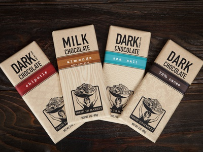 Fresh to Market Chocolate Bar Package Design