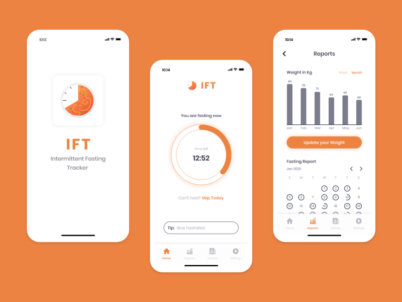 Intermittent Fasting Tracker App - UX/UI Design