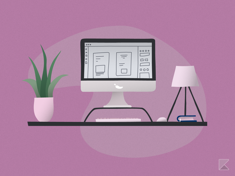 Desktop Setup Illustration