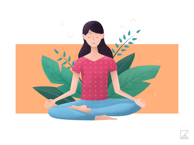 Illustration of a person meditating illustrator adobe illustrator illustration meditate stay calm yoga meditation