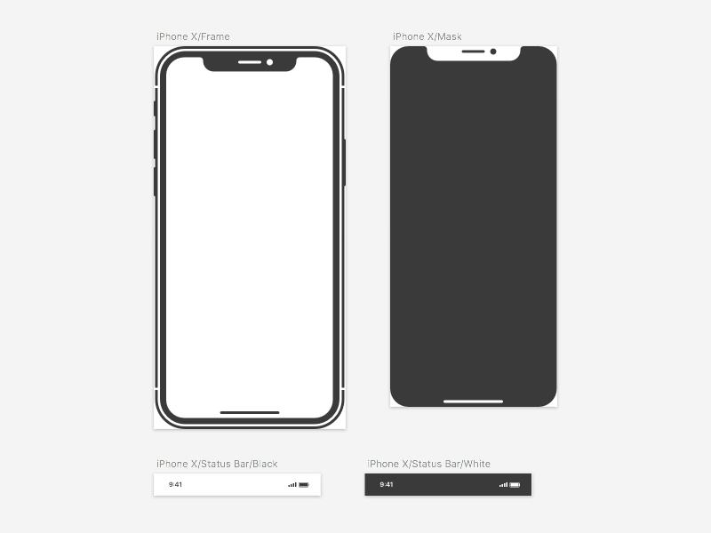 iPhone X Vector Sketch-file by Mattias Farnemyhr on Dribbble