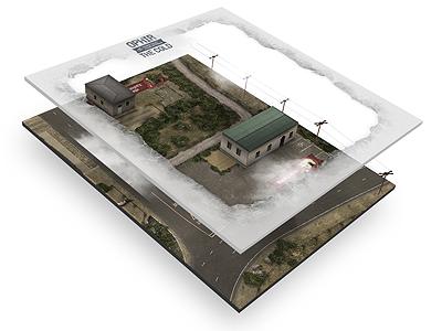 Ophir - Landscape Breakdown texture landscape birds eye view environment game level map scenery design website