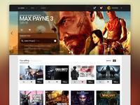 Game Store - Landing page