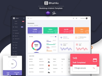 Bhumlu Bootstrap 4 Admin