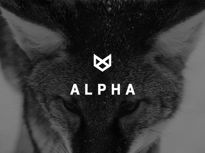 Alpha Logo mark minimalistic helvetiva withe black illustrator photoshop alpha graphic design logo