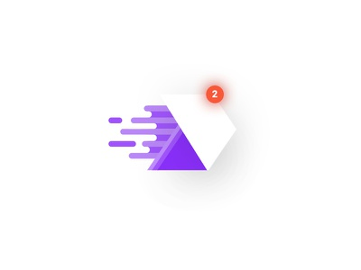 Mail Icon Illustration vector purple app bright color minimal notification illustration mail icon