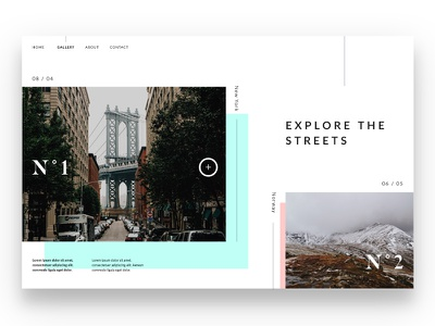 Photo gallery website daily dose of design ux ui editorial header website clean minimal gallery photo