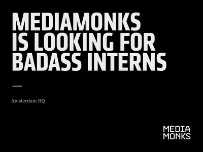 Interns job ux ui app student website logo minimal webdesign mediamonks design intern