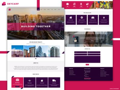 Construction Website Design Concept
