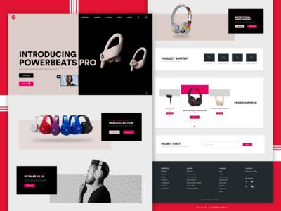 Beats website Re-Design