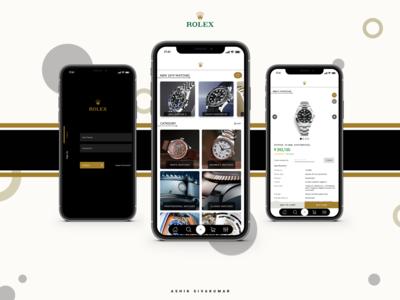 """""""Rolex"""" Mobile Application UI Concept"""