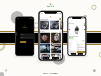 """Rolex"" Mobile Application UI Concept"